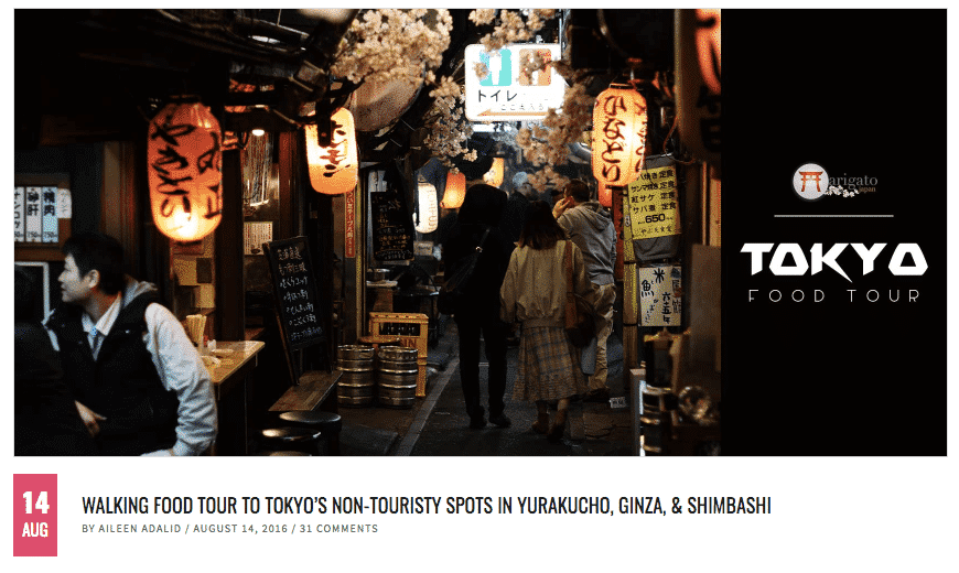 Food Blogger Visiting Tokyo Food Tour